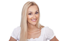 Bright picture of blond woman Stock Photography