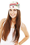 Bright picture of happy and carefree teenage girl Royalty Free Stock Image