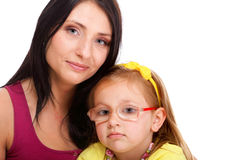 Bright picture of happy mother and little girl Stock Image