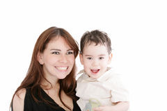 Bright picture of happy mother and son Stock Image