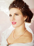 Bright picture of lovely young bride Stock Photos