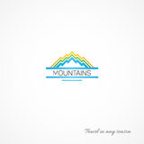 Bright picture of mountains,like a journey. Royalty Free Stock Photography