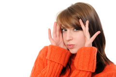 Bright picture of surprised woman face Stock Photography
