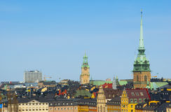 Bright picturesque view of Stockholm Royalty Free Stock Photo
