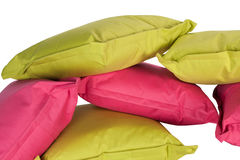 Bright pillows isolated on white Stock Photos