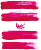 Bright pink acrylic brush strokes Royalty Free Stock Photography