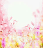 Bright pink background with bells flowers Royalty Free Stock Image