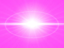 Bright pink background with sun shining. Bright pink background with a shining sun, abstract, in the center of the white Royalty Free Stock Image