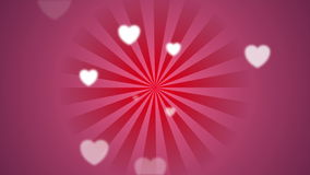 Bright pink beams and blurred hearts video clip stock footage