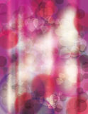 Bright pink blurry heart background Stock Image