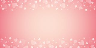 Bright pink border with heart for wedding and valentines day. Vector illustration EPS10 royalty free illustration