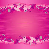 Bright pink card Stock Image