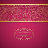 Red ornamental card with lace Stock Photos