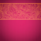 Pink ornamental card with lace Royalty Free Stock Image