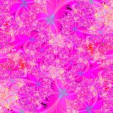 Bright Pink floral abstract background design template Royalty Free Stock Photos