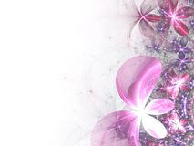 Bright pink fractal flowers Royalty Free Stock Photography