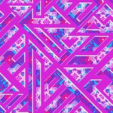 Bright pink geometric seamless pattern Royalty Free Stock Images