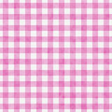 Bright Pink Gingham Pattern Repeat Background Stock Images