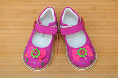 Bright pink girl's sandals Stock Photo