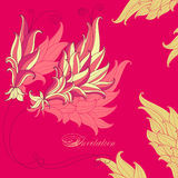 Bright pink invitation in oriental styl Royalty Free Stock Photo