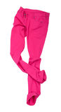 Bright pink jeans fall Stock Photo