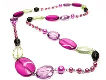 Bright pink jewellery beads Stock Images