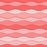 Bright pink layers with realistic shadow. 3d seamless pattern. Beautiful paper curves with shadow. Stock Photography