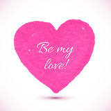 Bright pink marker textured vector heart Royalty Free Stock Images