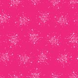 Bright pink paint splatter seamless pattern. All over print vector splash background. Pretty modern abstract fashion style. Trendy scrapbooking paper stock illustration