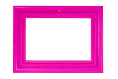 Bright pink photo frame Royalty Free Stock Photography