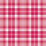 Bright Pink Plaid Royalty Free Stock Photography