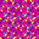 Bright Pink Pop Pattern. Colorful pink bubblegum synth pattern Stock Photos