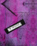 Bright Pink and Purple Distressed Abstract Mixed Media Artwork Royalty Free Stock Images