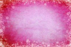 Bright Pink and Red Bokeh Frame Background. For Slide Slow Presentations royalty free illustration