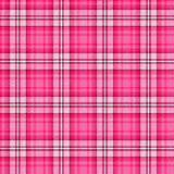 Bright pink seamless tartan Stock Photography