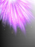 Bright pink shining fireworks. EPS 10. Bright pink shining fireworks explosion at dark transparent background. EPS 10 vector file included Stock Photo