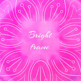 Bright Pink Square Frame Stock Photography