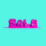 Bright pink style text sale.  Royalty Free Stock Image