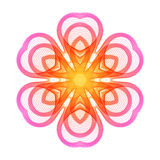 Bright Pink Stylized Flower of the Lines. Royalty Free Stock Photo