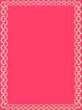 Bright Pink Valentine Hearts Frame Stock Photography
