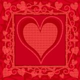Bright Pink Valentine's Day Background stock illustration