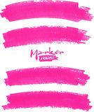 Bright pink vector marker stains set Royalty Free Stock Images