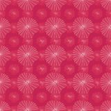 Bright pink vector seamless repeat pattern of abstract organic shapes representing lotus leaves or jellyfish in a batik tribal. Style. Ideal for fabric, home stock illustration