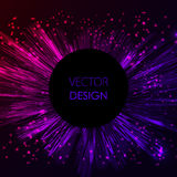 Bright pink and violet shining . Abstract fireworks explosion at dark space background. Stock Image