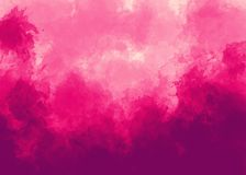 Bright pink watercolor background. It can be used as logo, web, product display, design of cards, posters, notebooks, t-shirts and so on Royalty Free Stock Photos