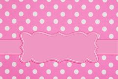 Bright pink and white polka dot fabric background royalty free illustration