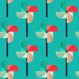Bright Pinwheel seamless pattern. Child toy windmills. Vector. Bright Pinwheel seamless pattern. Colorful child toy windmills. Vector background Stock Images