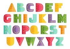 Bright Placard Alphabet Royalty Free Stock Photos