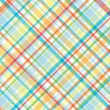 Bright Plaid Illustration. Plaid background illustration in bright summer colors Stock Photography