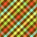 Bright Plaid Pattern. Plaid background pattern in bright colors on brown Stock Photography